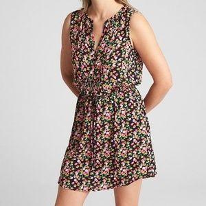 NWT Gap black floral dress